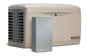 Kohler 14RESAL 14kW Air Cooled Standby Generator w/100 Amp 16 Circuit Space Automatic Transfer Switch